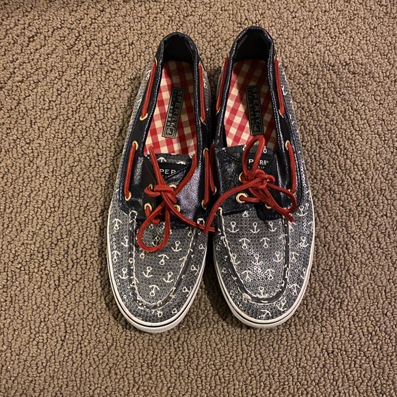 Sperry Shoes - Sperry Topsider- Red White & Blue Anchor Size 7.5